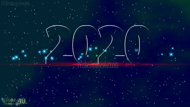 Happy New Year 2020 1080p HD Images With Sparkling Background