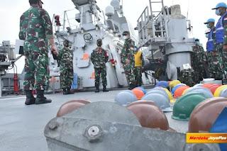 Laksma Agus Priyatna Pimpin Tim Itjen TNI Pantau Kesiapan Satgas Operasi MTF TNI Konga XXVIII-M Unifil Koarmada II