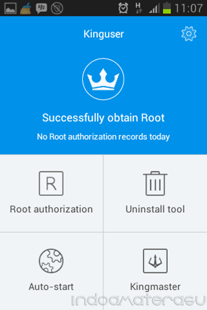Kinguser Successfully obtain Root.