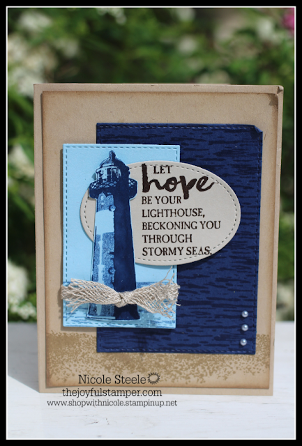 Masculine card using Stampin' Up!'s High Tide stamp set by Nicole Steele The Joyful Stamper