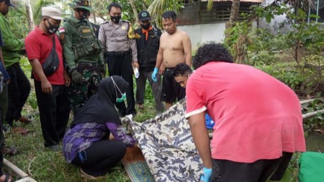 Ani Ma'rufah saat ditemukan dalam kondisi meninggal