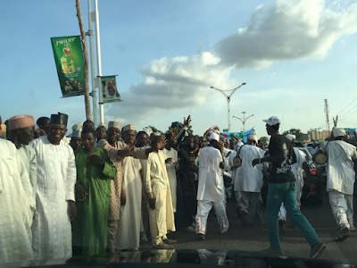 Photos: See the crowd that came out to welcome Kano State Governor from Saudi Arabia