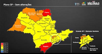 Vale do Ribeira permanece na fase vermelha do Plano São Paulo