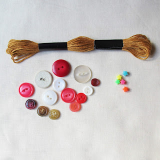 image tutorial diy button christmas tree ornament collect your buttons beads and thread