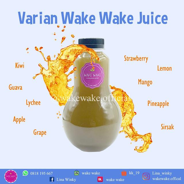 Wake Wake Juice dengan berbagai rasa