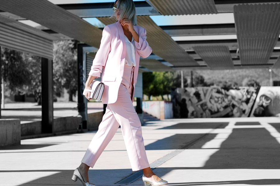 pink suit zara littledreamsbyr granny shoes cheapass sunnies