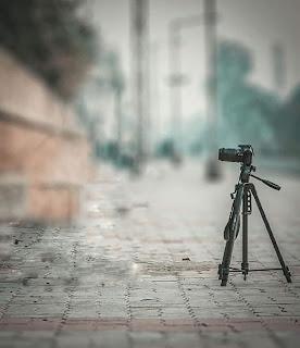 Camera Tripod Blur CB Background Free Stock