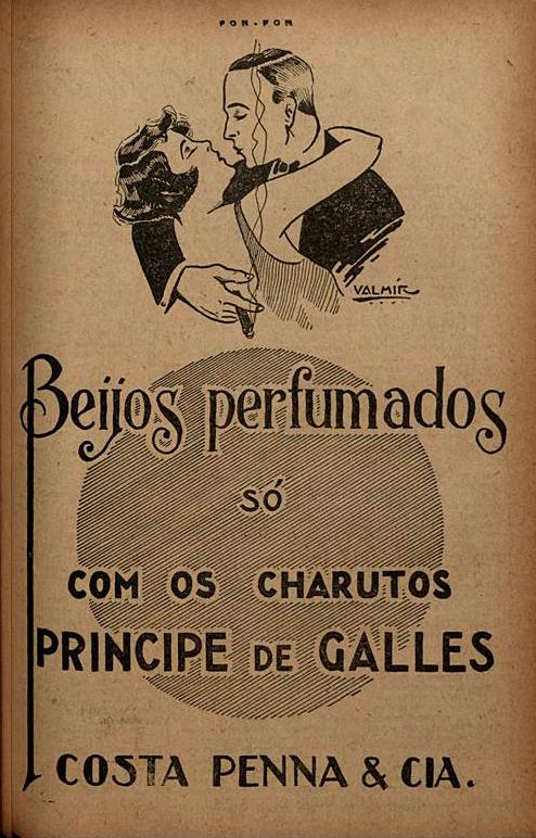 Propaganda antiga dos Charutos Príncipe de Galles veiculada em 1926