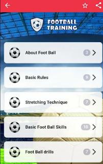 Football training app