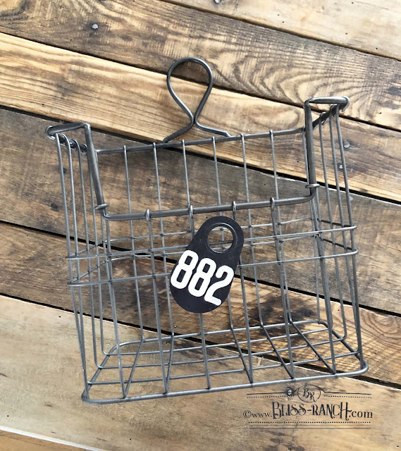 Occasional Sale Shops mail basket cow tag Bliss-Ranch.com
