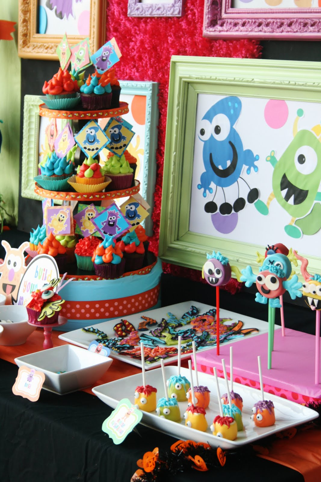 Kara's Party Ideas Colorful Monster Bash Party