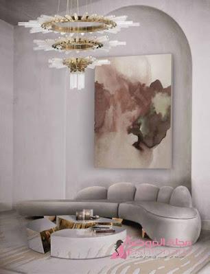 ديكورات عصرية للثريات ملفتة لغرف الجلوس