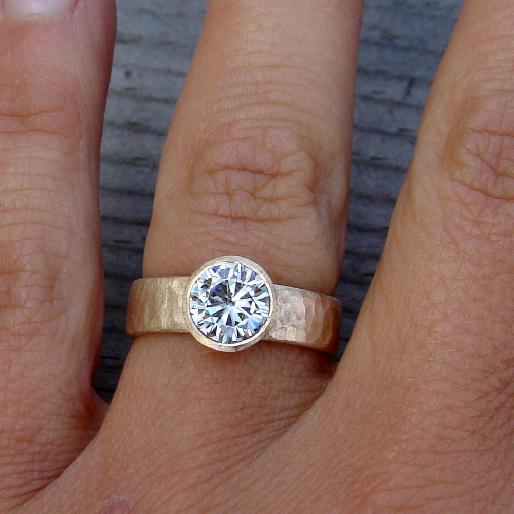 Engagement Rings With Moissanite: Forever Brilliant Moissanite