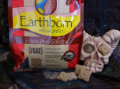 Earthborn Holistic bison meal grain-free poultry-free egg-free dog cookies