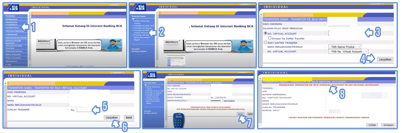 Cara Bayar Shopee Lewat Internet Banking BCA