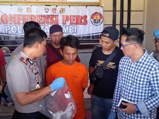 Pelaku Pembunuhan Pegawai Koperasi Berhasil Ditangkap Atas Kerjasama Polresta Jambi Dan Polsek Padang Ulak Tanding Bengkulu