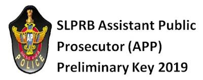 SLPRB APP Answer Key 2019