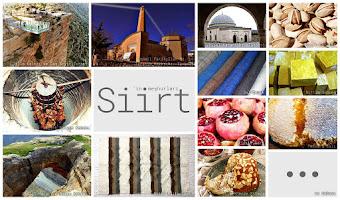 Siirt'in meşhur şeylerini gösteren resimlerden oluşan kolaj