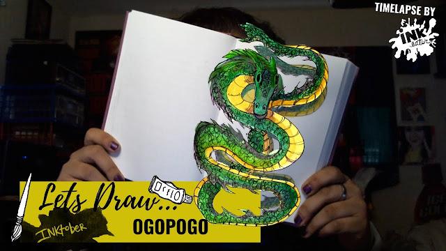 Drawing the Ogopogo - Exploring Cryptids Worldwide | Inktober