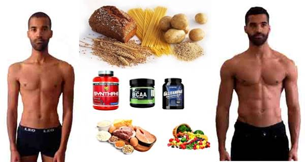 Alimentación efectiva para hombres ectomorfos que quieren aumentar su masa muscular