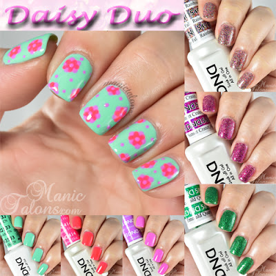 Daisy Duo Swatches and Nail Art