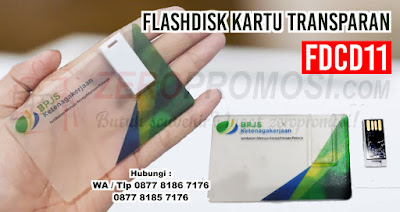 Flashdisk Kartu Transparan - FDCD11, usb card transparan, USB PROMOSI FLASH DRIVE KARTU TRANSPARAN