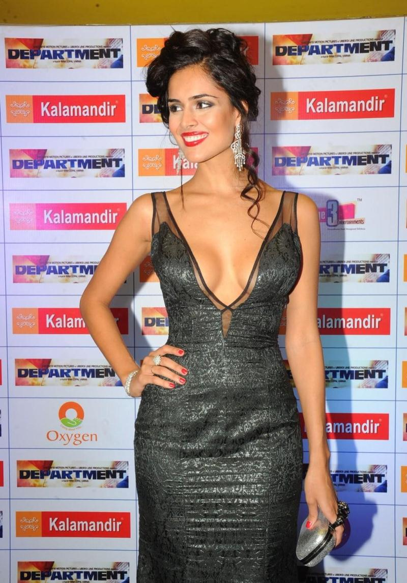 Nathalia Kaur Very Hot And Sexy Boobs In Black Dress -4333