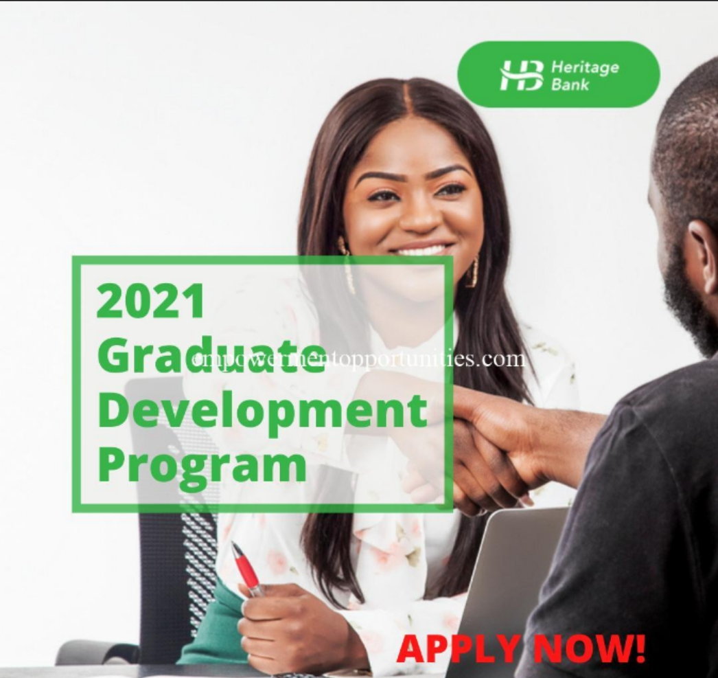 Recruitment: Apply Heritage Bank Graduate Trainee Programme, 2021 for Nigerians