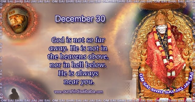 My Sai Blessings - Daily Blessing Messages-Shirdi Sai Baba Today Message 30-12-19