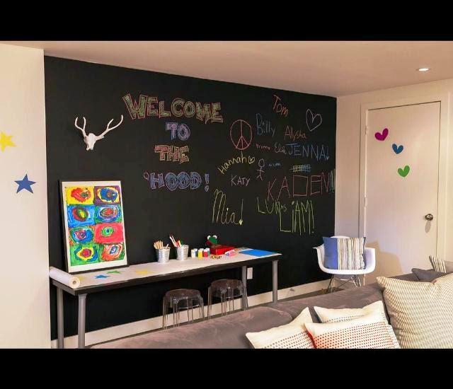 Chalkboard Paint Playroom Design Ideas