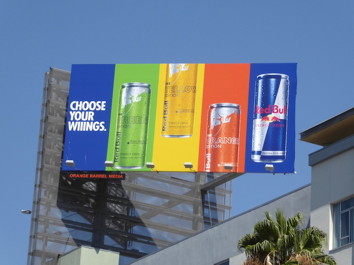 Red Bull Editions Choose your Wings billboard