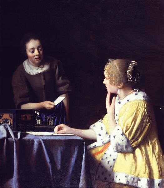 Jan Vermeer Хозяйка и служанка