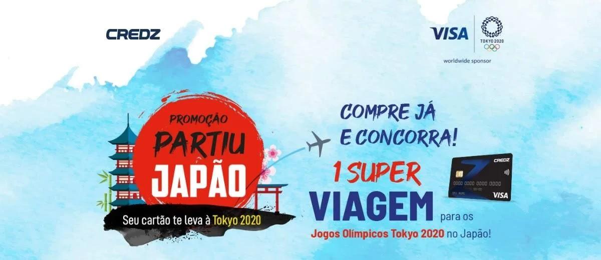 Promoção Cartão Credz Visa 2020 Viagem Tokyo Assistir Jogos Olímpicos Partiu Japão
