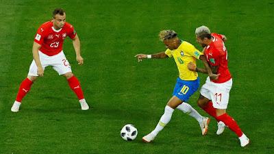 Brasil Bungkam Swiss 1-0 di Babak Pertama