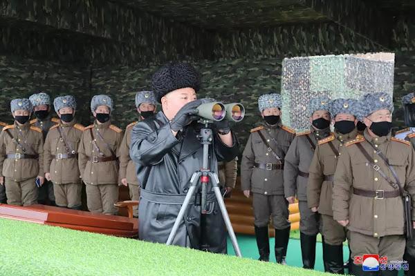 Kim Jong Un guides KPA units joint strike drill, Feb 28, 2020