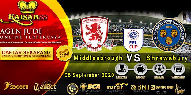 Prediksi Bola Terpercaya Liga FA Inggris Middlesbrough vs Shrewsbury 05 September 2020