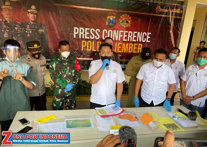 Polres Jember Gelar Press Conference Kasus Protokol Kesehatan Battle Sound di Wuluhan Jember