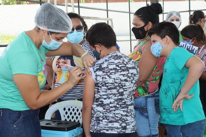 Canindé conclui vacinação de adolescentes de 12 anos