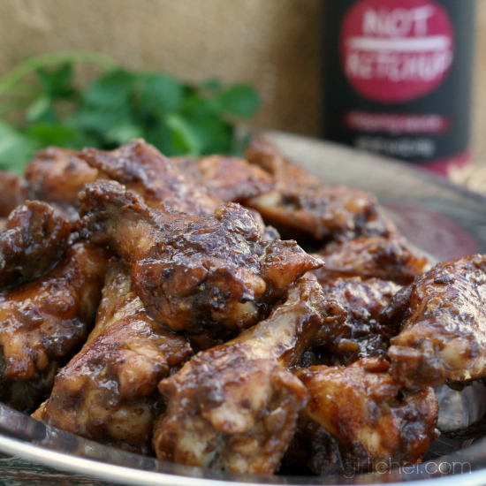 Spiced Fig and Garlic Chicken Wings