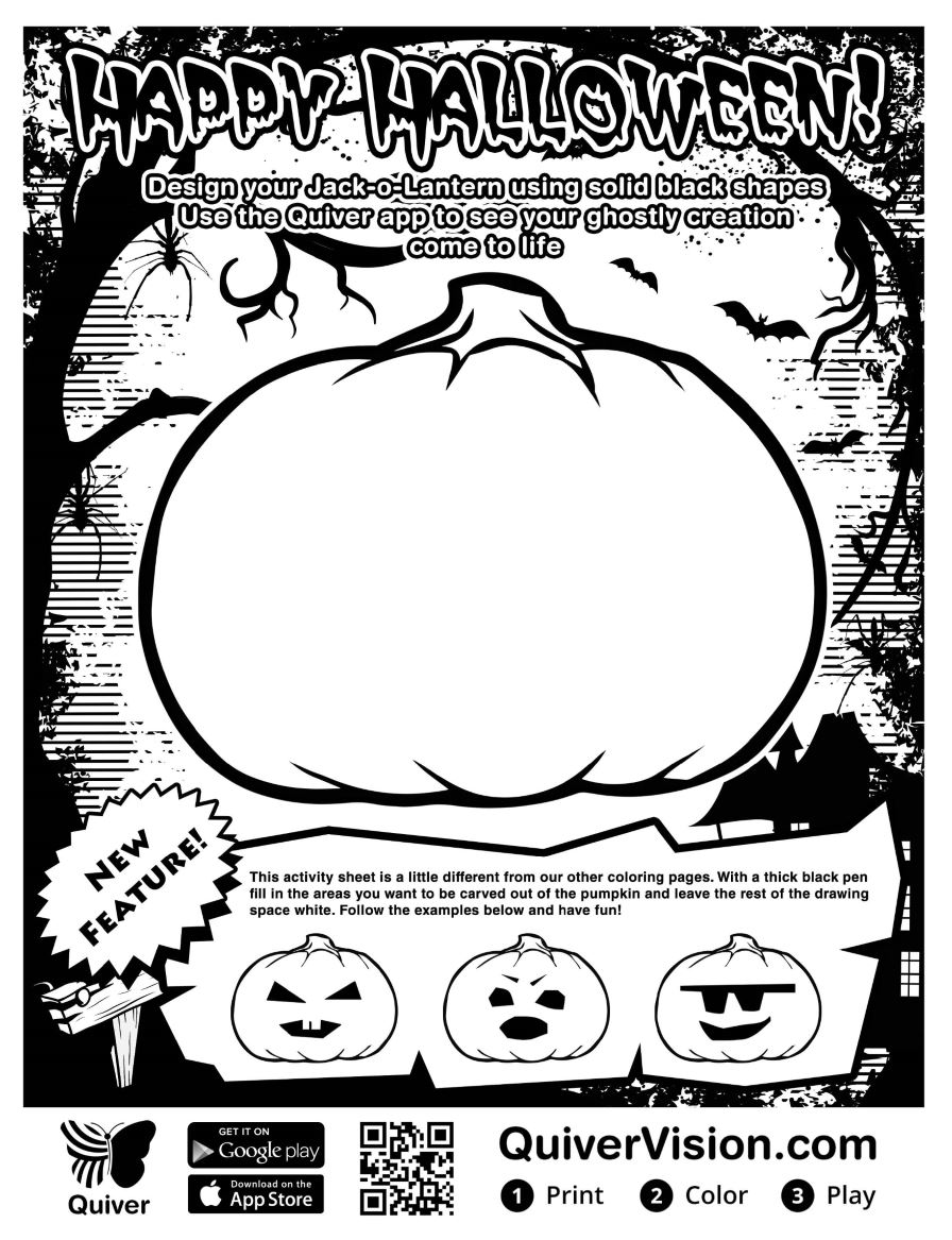 Quiver free coloring pages - Why Not Spark Your Student S Creativity With Quiver S Augmented Pumpkin Coloring Sheet And Turn It Into A Scary Story Writing Prompt