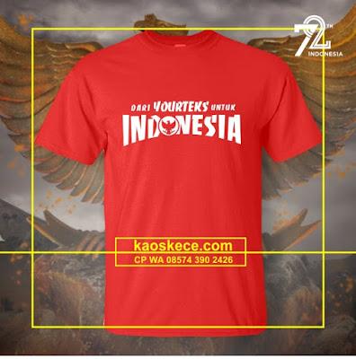 kaos hut ri spesial suka suka love indonesia