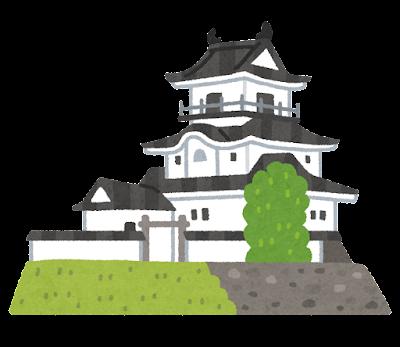 掛川城のイラスト