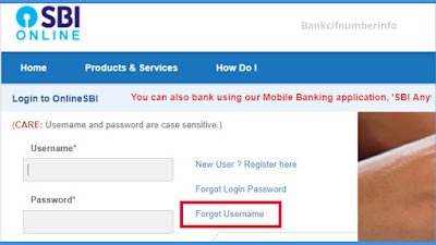Reset Password for SBI