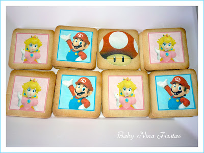 galletas mario bros y princesa peach