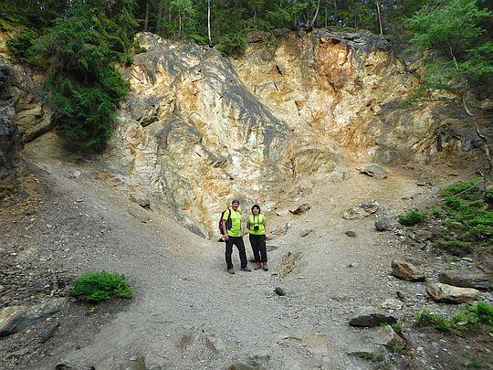 Teren dawnej kopalni przy Jeziorku Błękitnym.