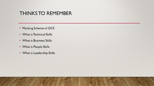 Things to remember about CIMA OCS Case study
