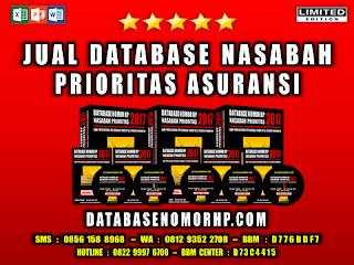 Jual Database Nasabah Prioritas Asuransi