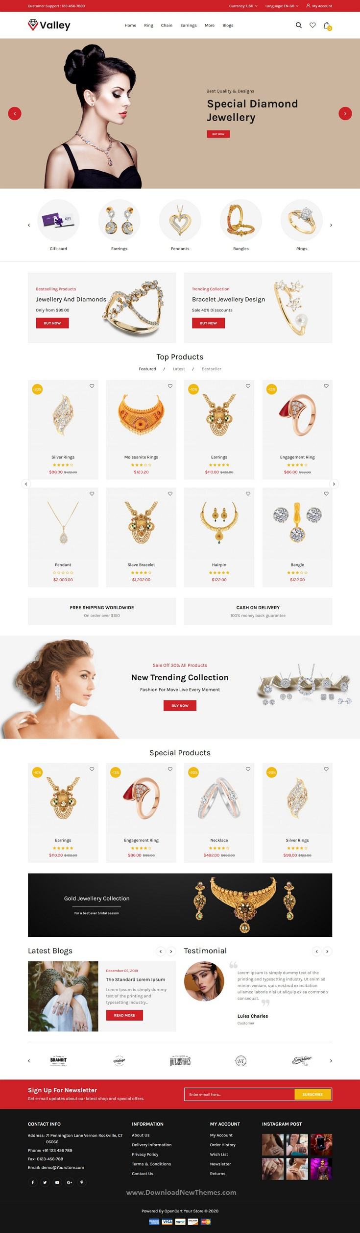Jewellery OpenCart Responsive Theme