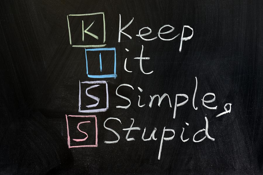Caption tips: Keep It Simple & Stupid
