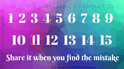 Answer to Find the Mistake Brain Test